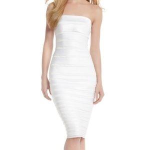 White House Black Market Satin Tiered Dress